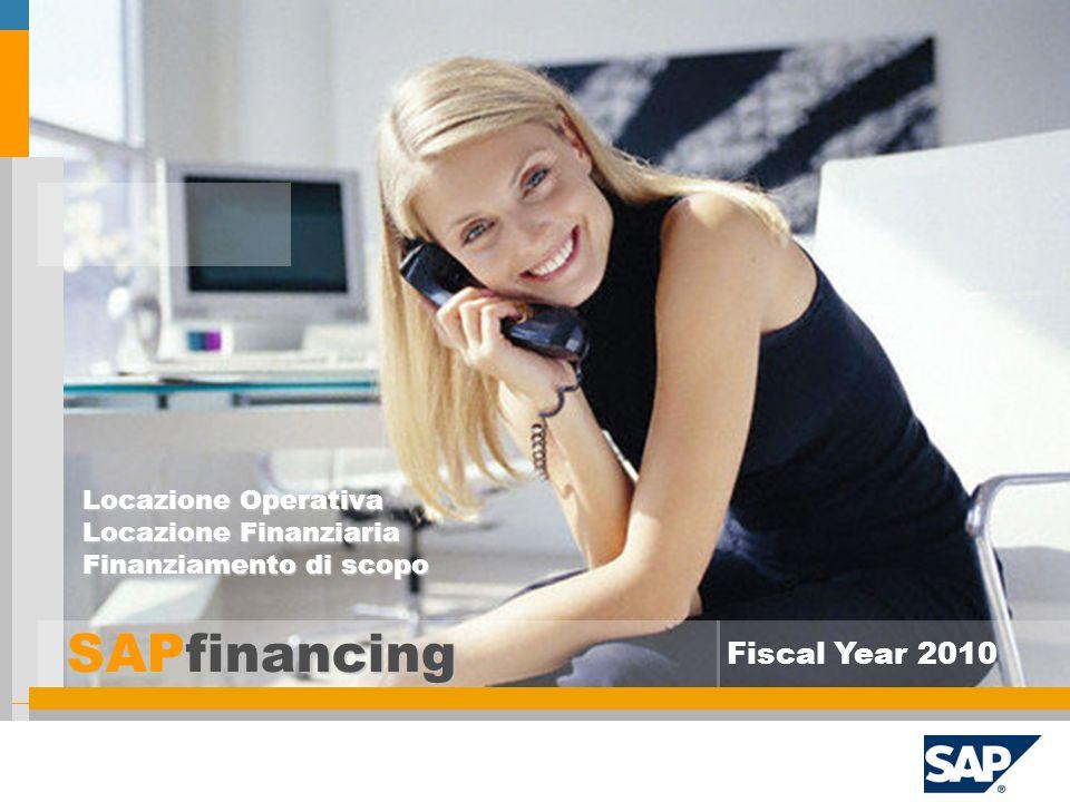 SAPfinancing Fiscal Year 2010 Locazione Operativa