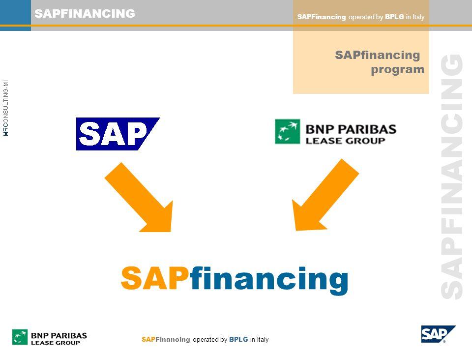 SAPfinancing SAPFINANCING SAPfinancing program