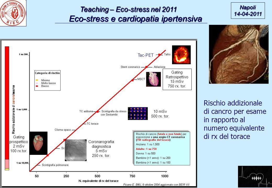 . . . . . . Teaching – Eco-stress nel 2011 Rischio addizionale
