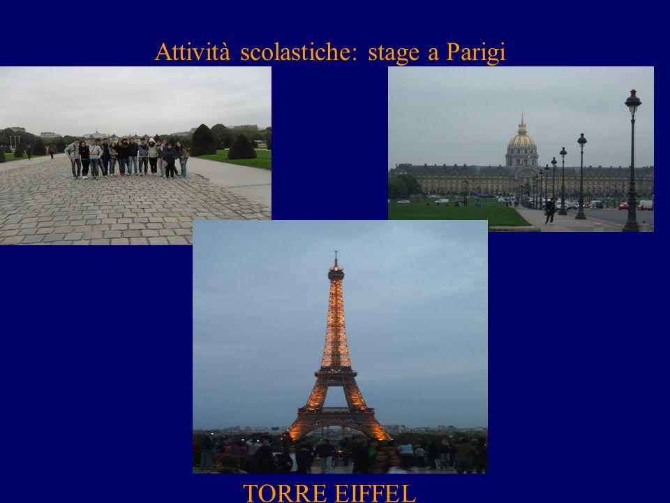 Attività scolastiche: stage a Parigi