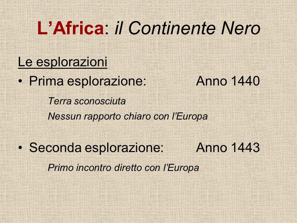 L'Africa: il Continente Nero