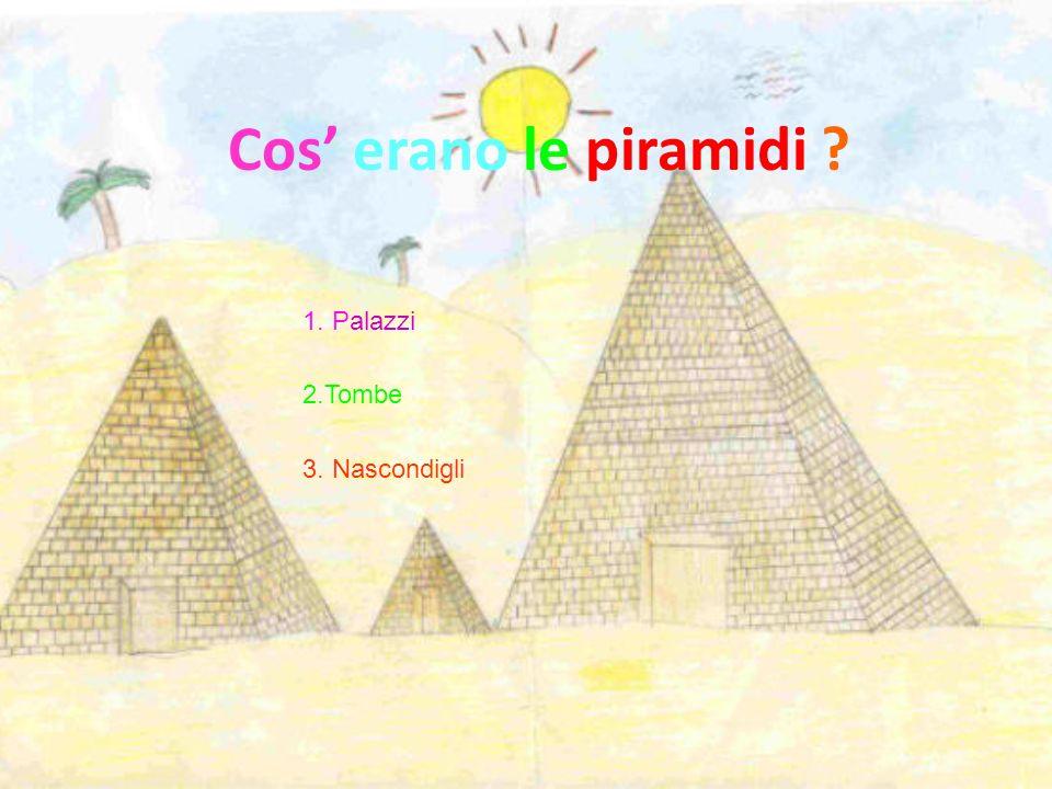 Cos' erano le piramidi 1. Palazzi 2.Tombe 3. Nascondigli