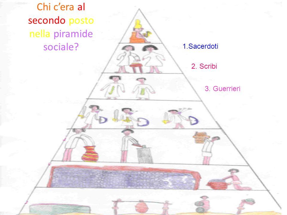 Chi c'era al secondo posto nella piramide sociale