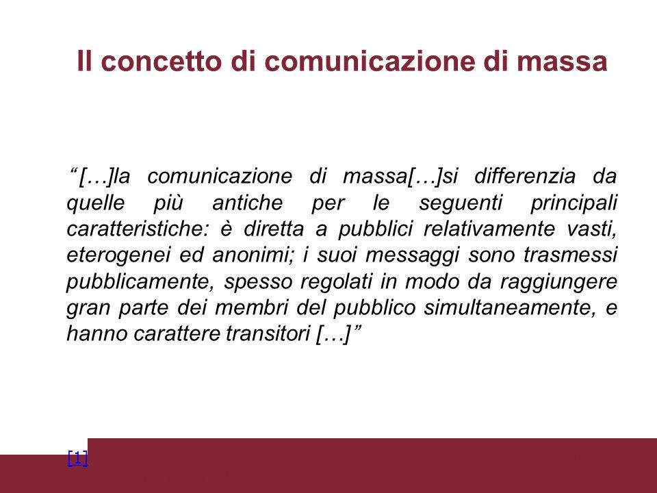 Il concetto di comunicazione di massa