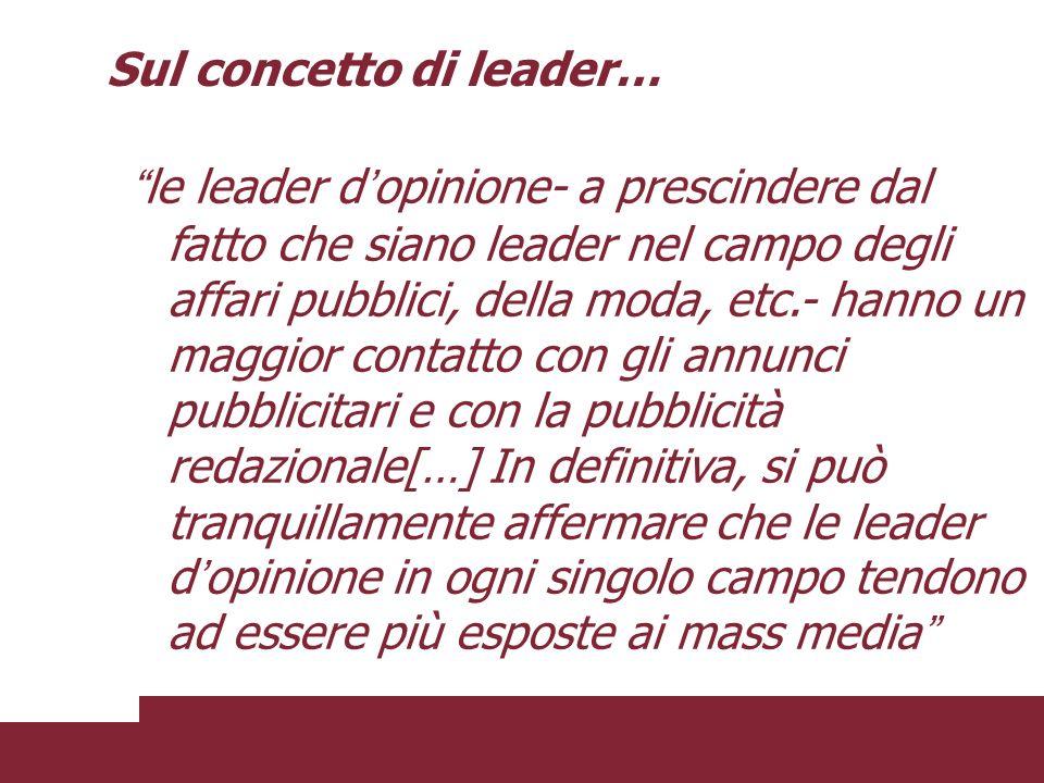 Sul concetto di leader…