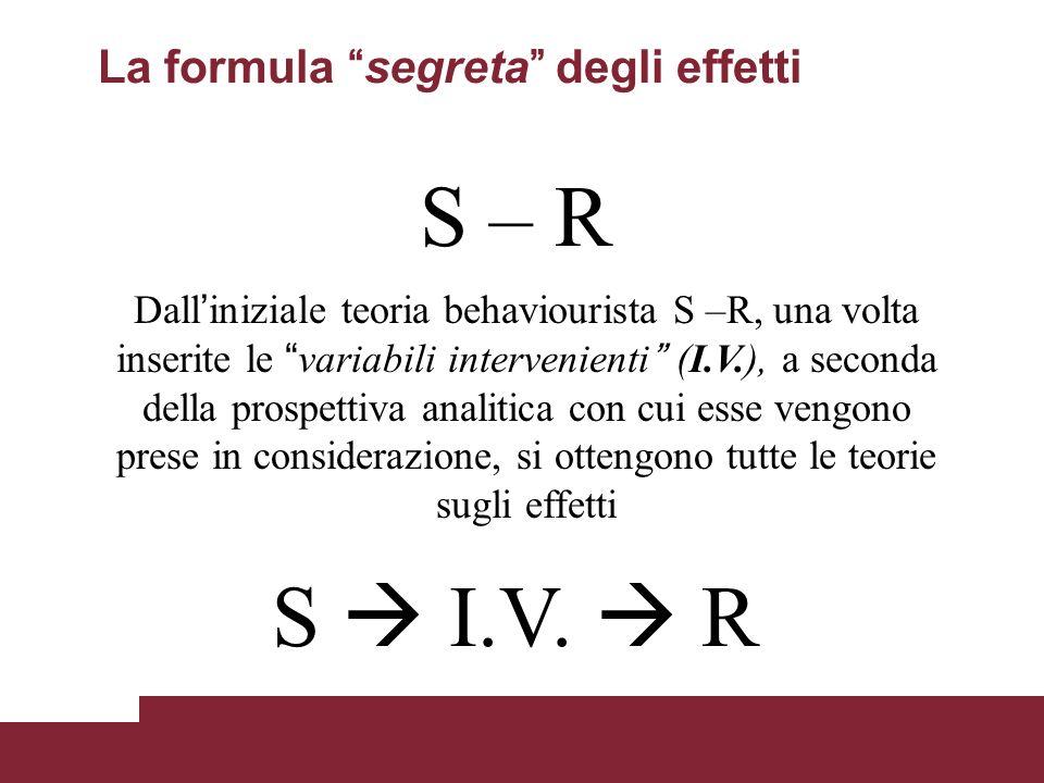 La formula segreta degli effetti