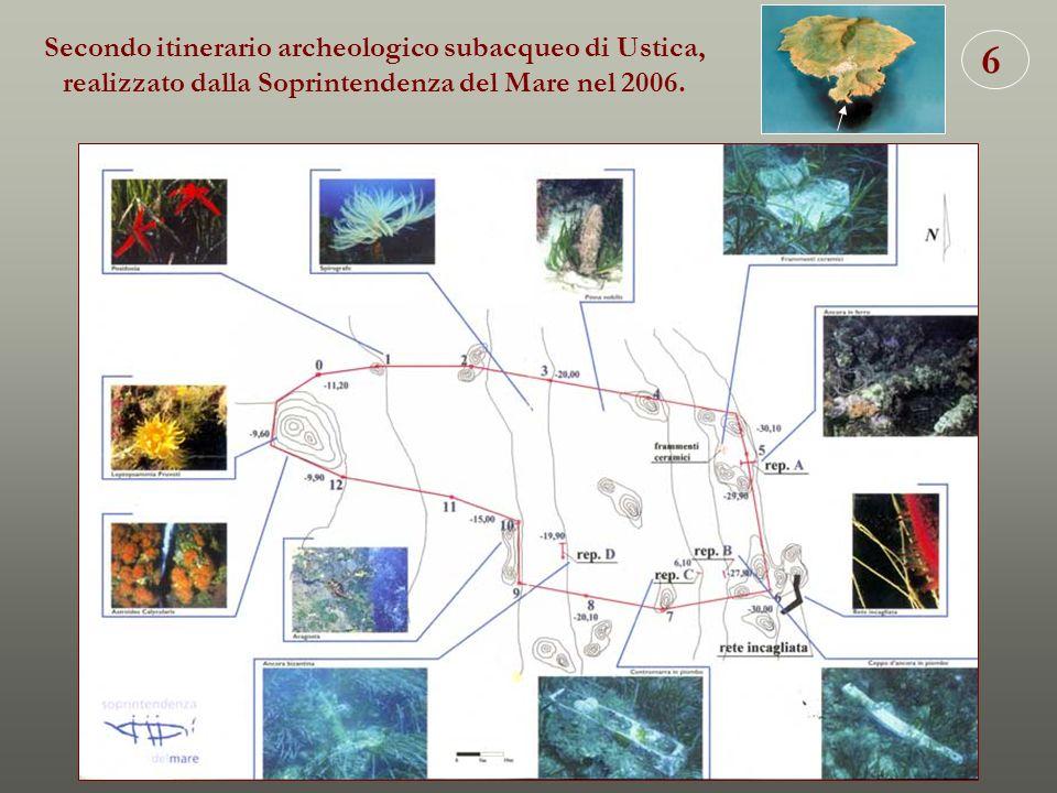 Secondo itinerario archeologico subacqueo di Ustica, realizzato dalla Soprintendenza del Mare nel 2006.