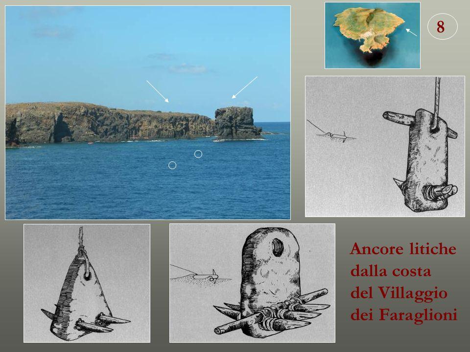 8 Ancore litiche dalla costa del Villaggio dei Faraglioni