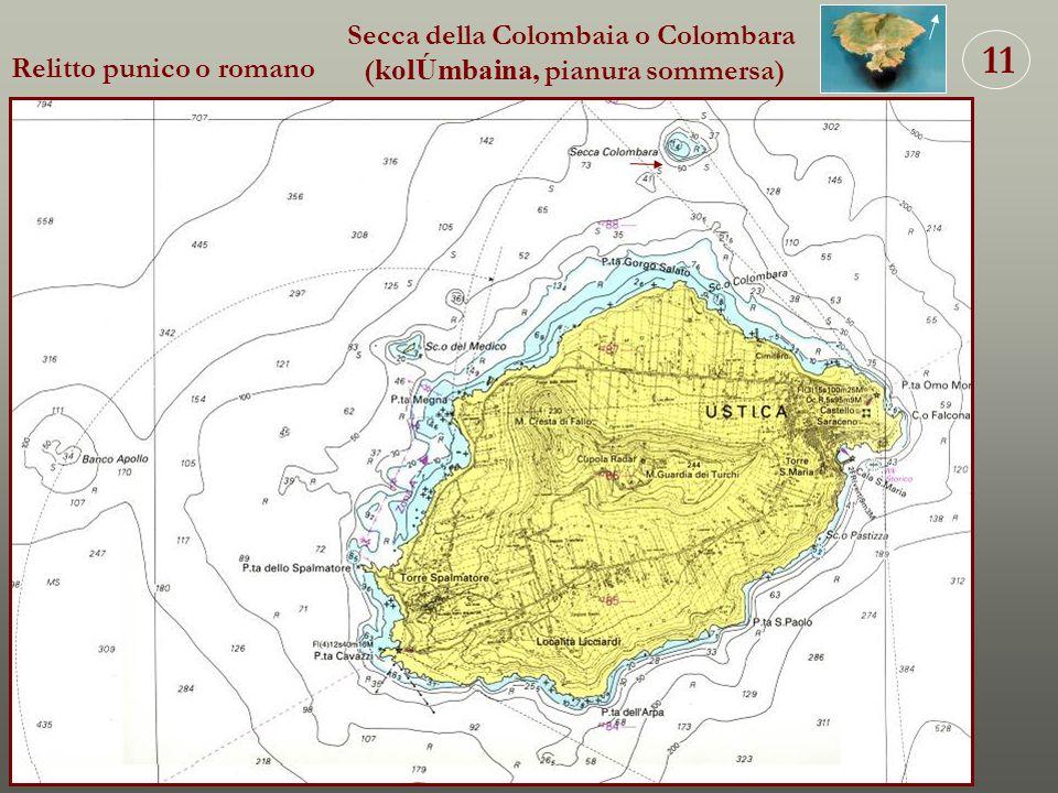 Secca della Colombaia o Colombara (kolÚmbaina, pianura sommersa)