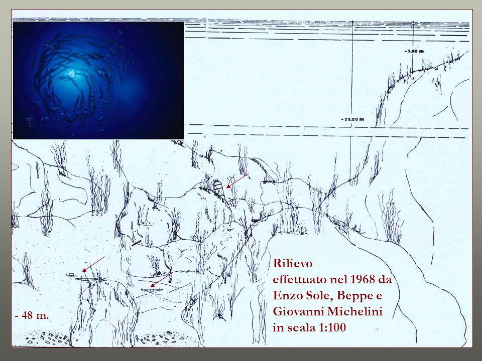 Rilievo effettuato nel 1968 da Enzo Sole, Beppe e Giovanni Michelini