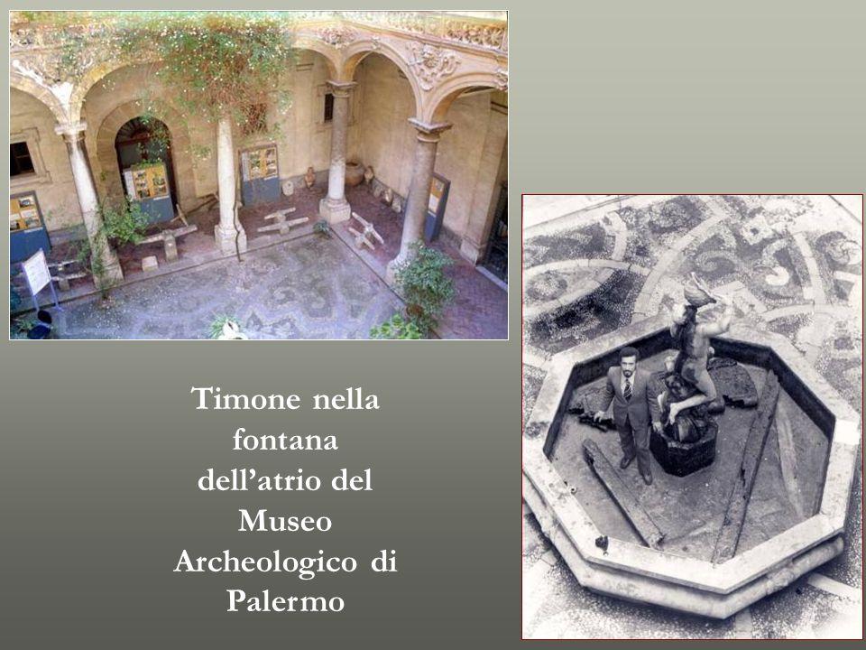 Timone nella fontana dell'atrio del Museo Archeologico di Palermo