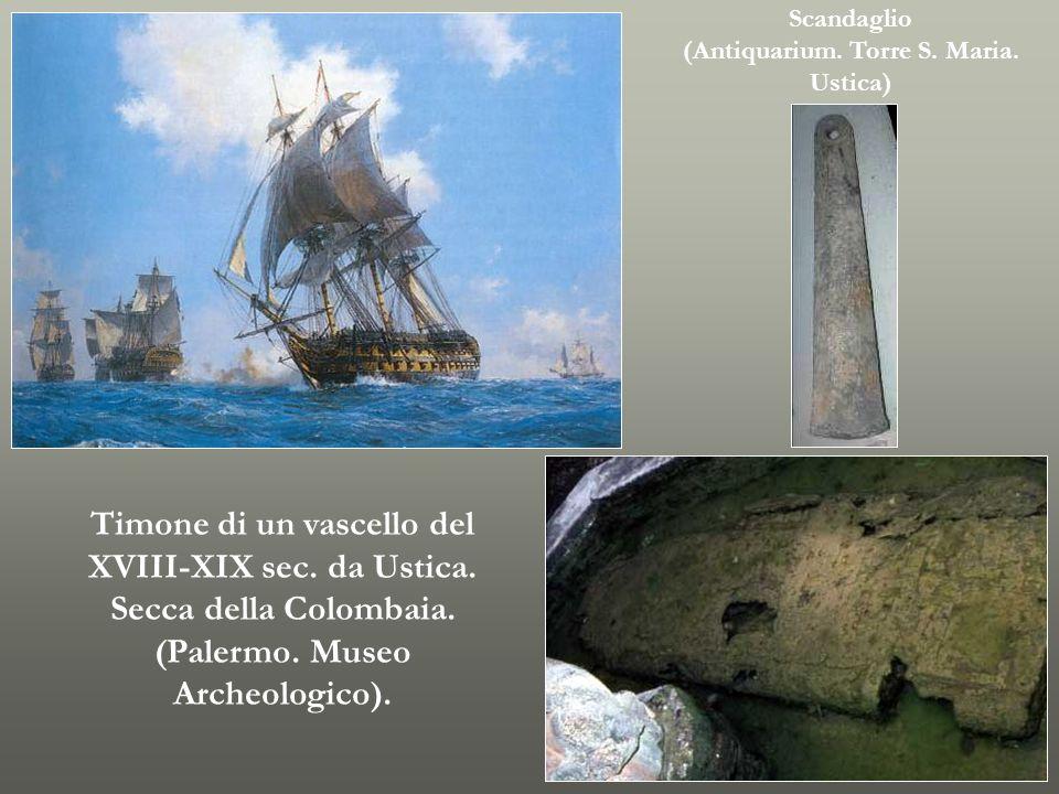 Timone di un vascello del XVIII-XIX sec. da Ustica.