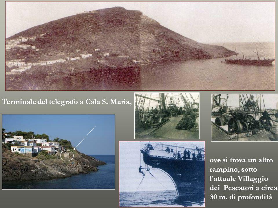 Terminale del telegrafo a Cala S. Maria,