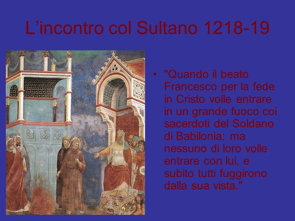 L'incontro col Sultano 1218-19