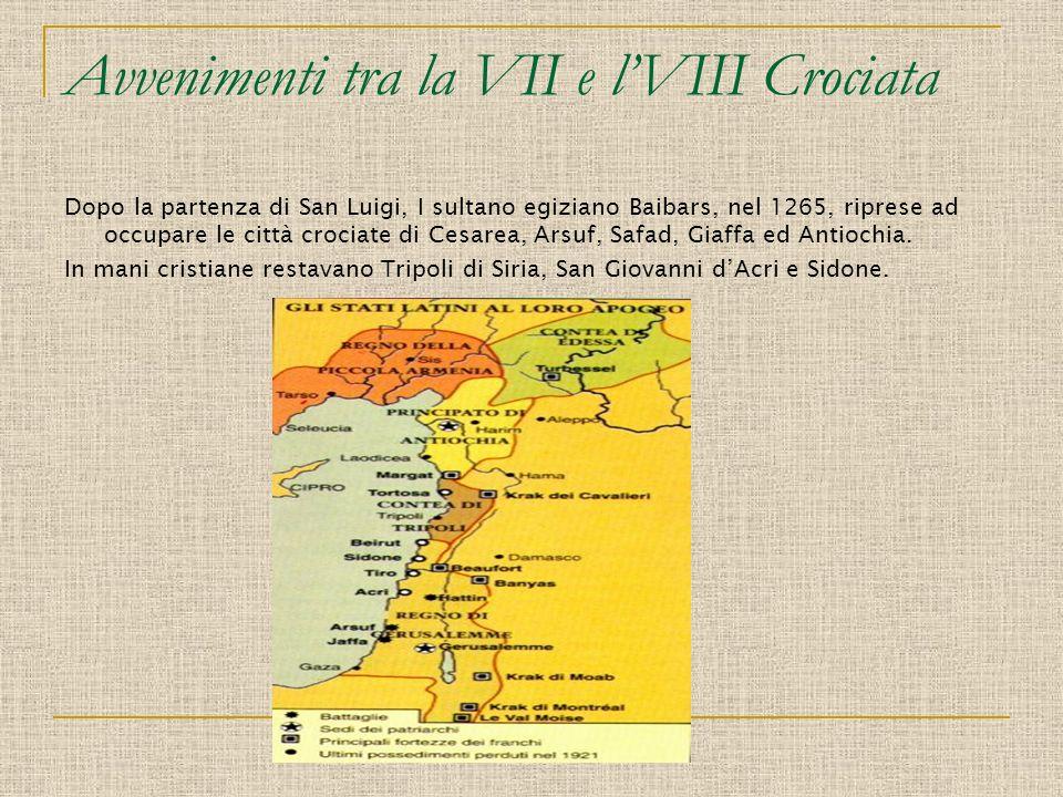 Avvenimenti tra la VII e l'VIII Crociata