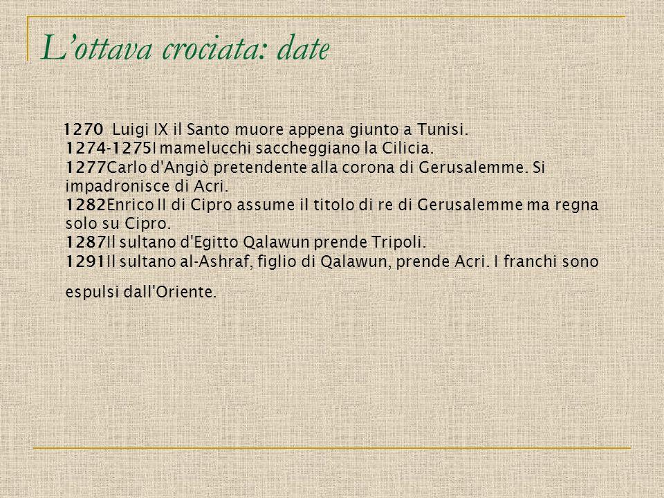 L'ottava crociata: date