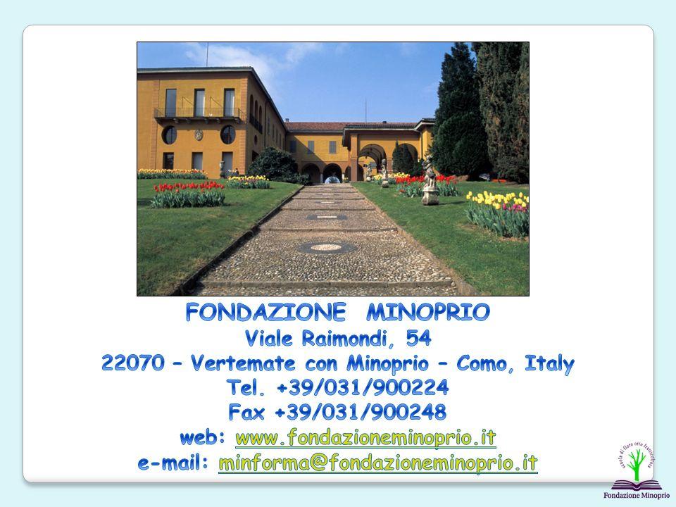 FONDAZIONE MINOPRIO Viale Raimondi, 54