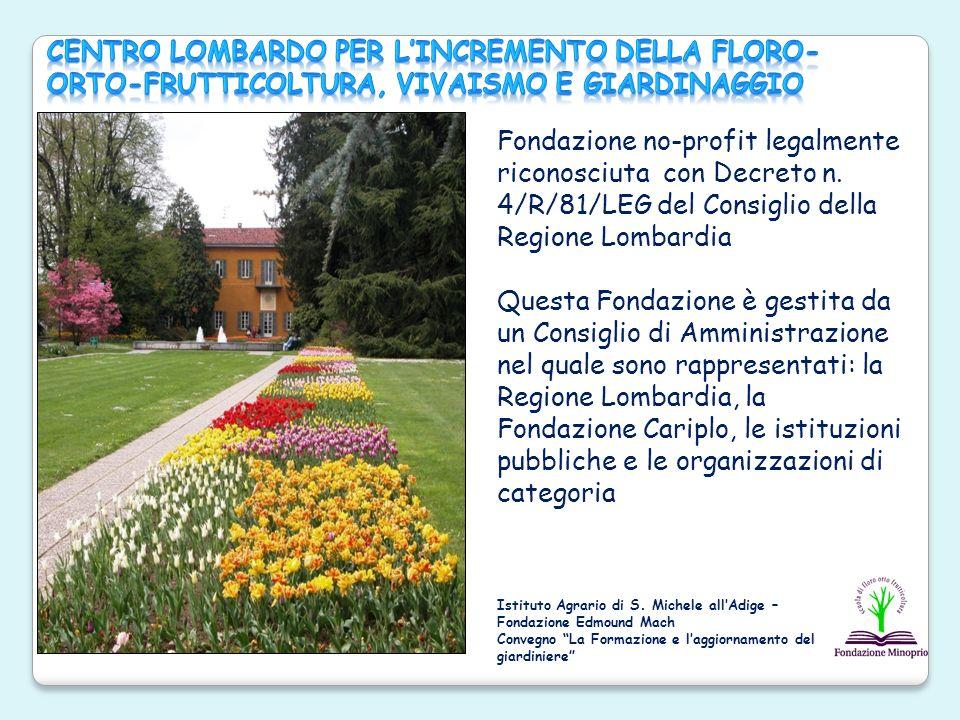 Centro Lombardo per l'Incremento della Floro-Orto-Frutticoltura, Vivaismo e Giardinaggio