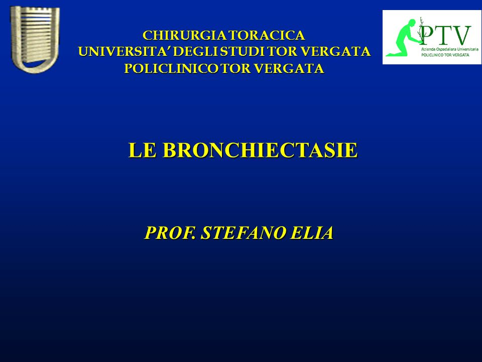 UNIVERSITA' DEGLI STUDI TOR VERGATA POLICLINICO TOR VERGATA