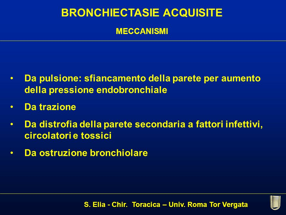 BRONCHIECTASIE ACQUISITE