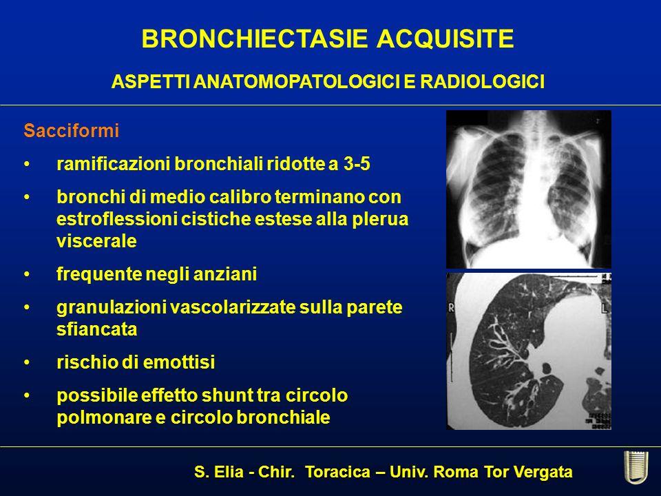 BRONCHIECTASIE ACQUISITE ASPETTI ANATOMOPATOLOGICI E RADIOLOGICI
