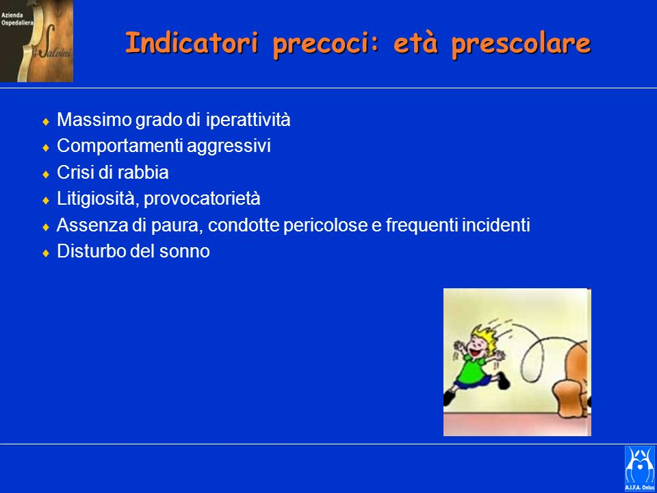 Indicatori precoci: età prescolare