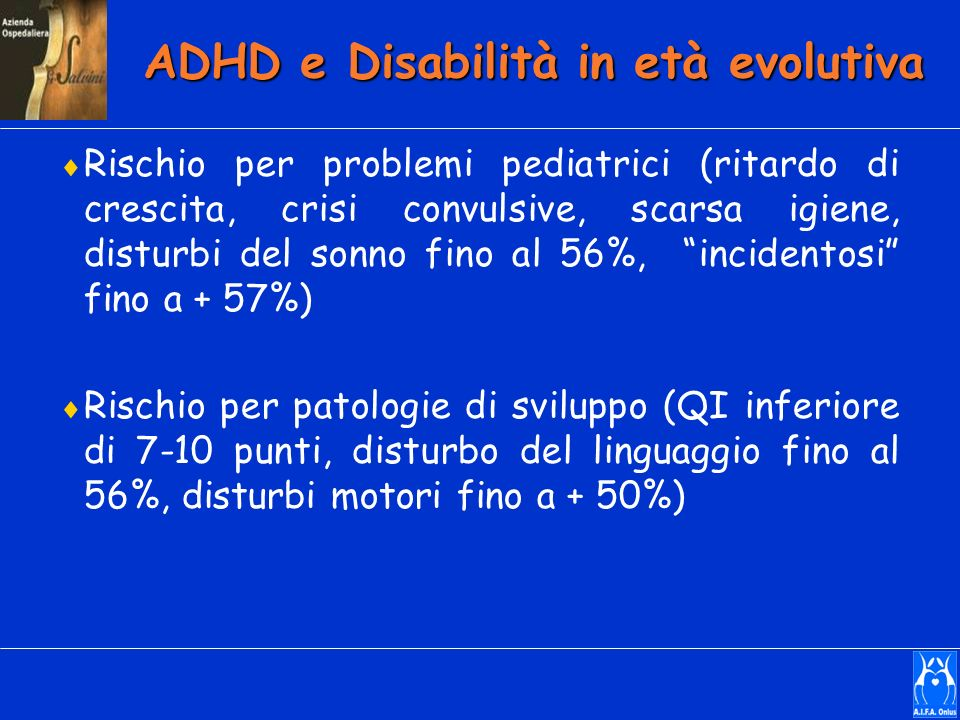 ADHD e Disabilità in età evolutiva
