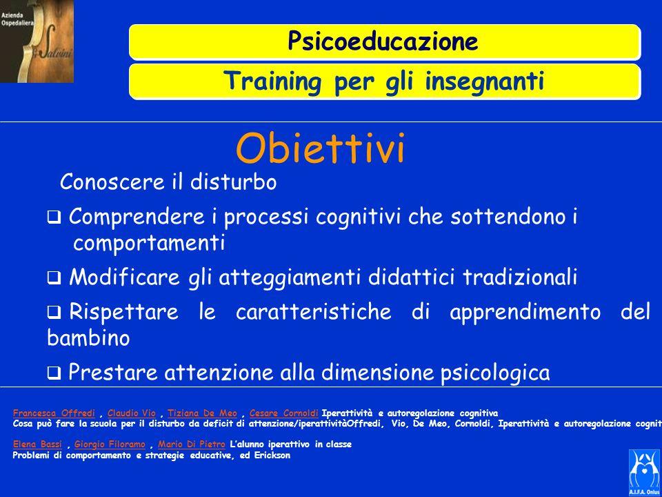 Training per gli insegnanti