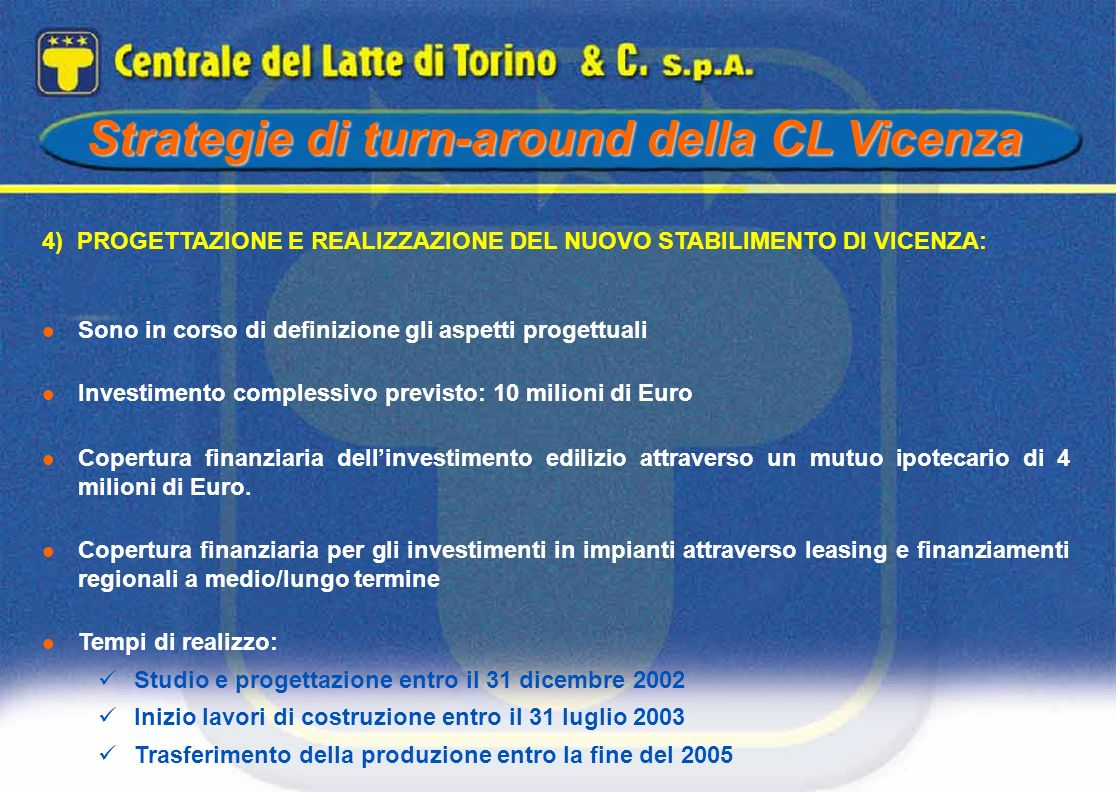 Strategie di turn-around della CL Vicenza