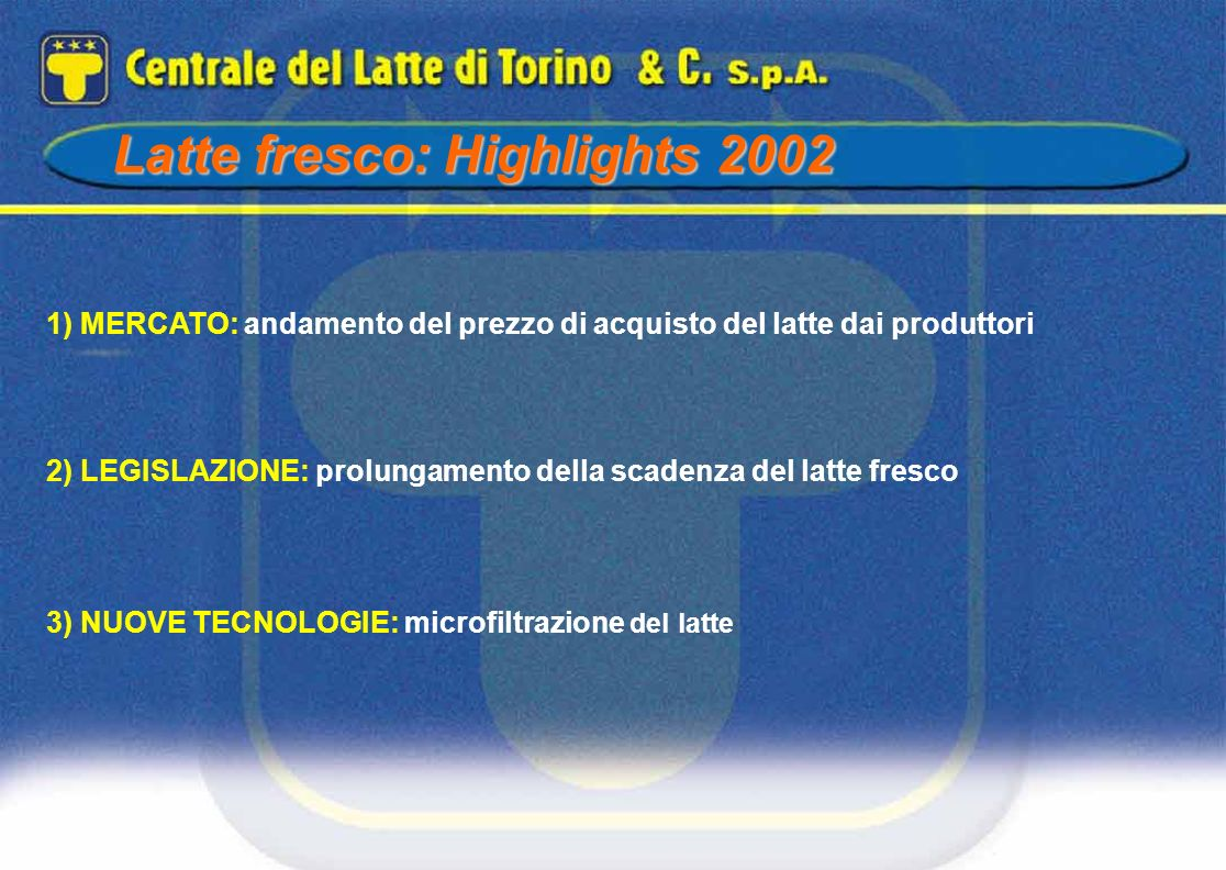 Latte fresco: Highlights 2002