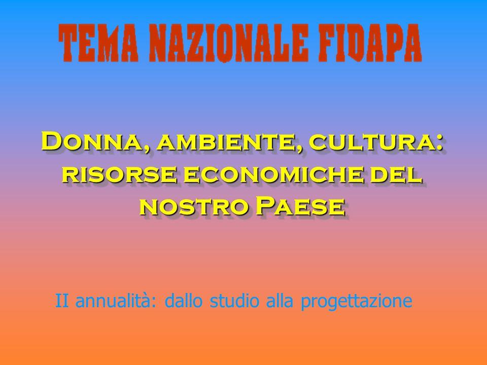 Donna, ambiente, cultura: risorse economiche del nostro Paese