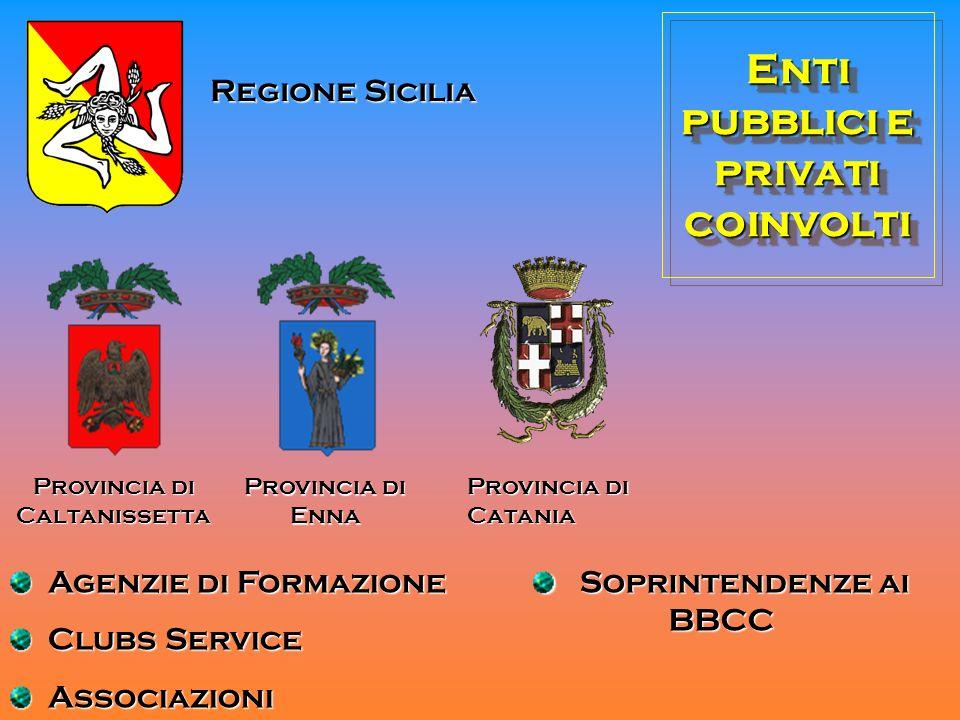 Enti pubblici e privati coinvolti