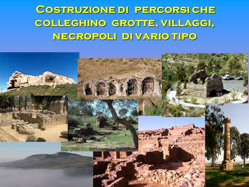 Costruzione di percorsi che colleghino grotte, villaggi, necropoli di vario tipo