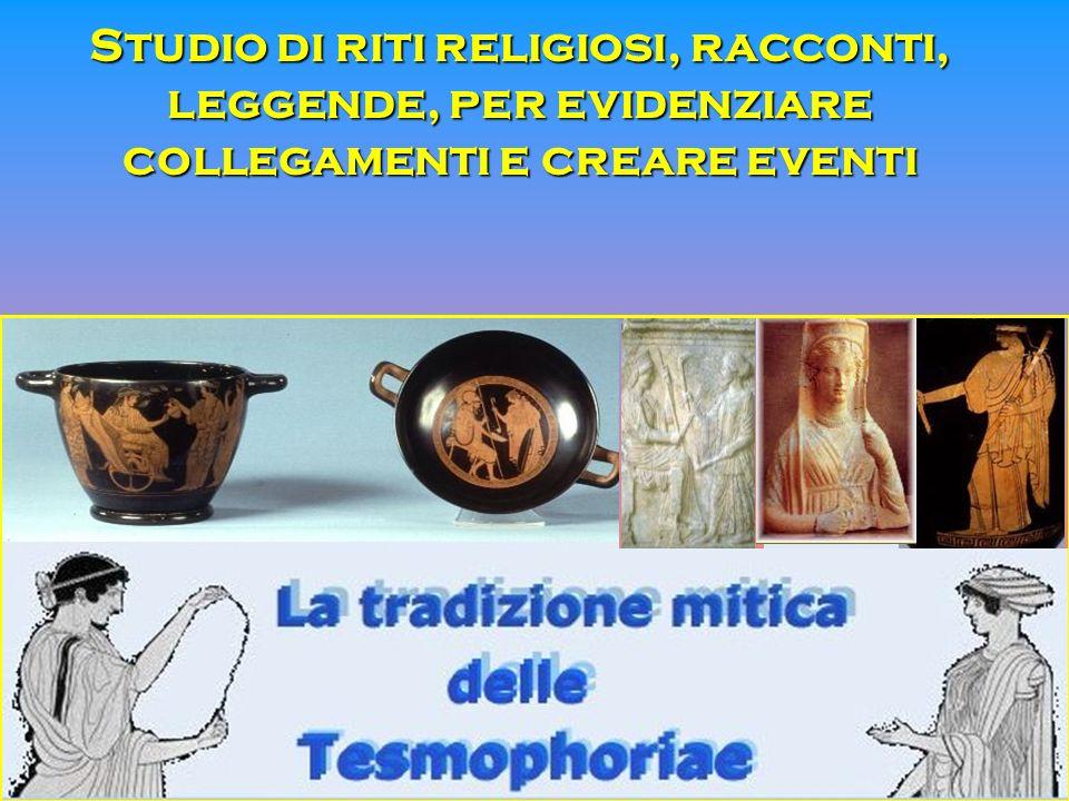 Studio di riti religiosi, racconti, leggende, per evidenziare collegamenti e creare eventi