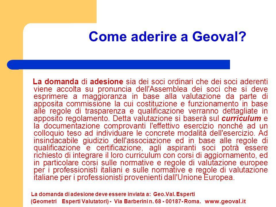 Come aderire a Geoval