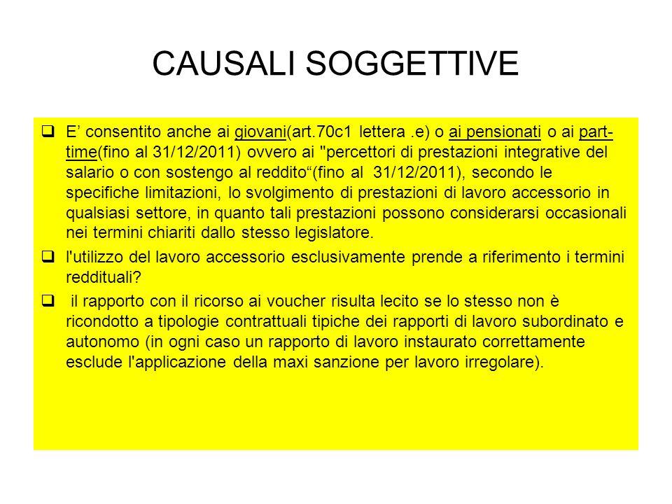 CAUSALI SOGGETTIVE