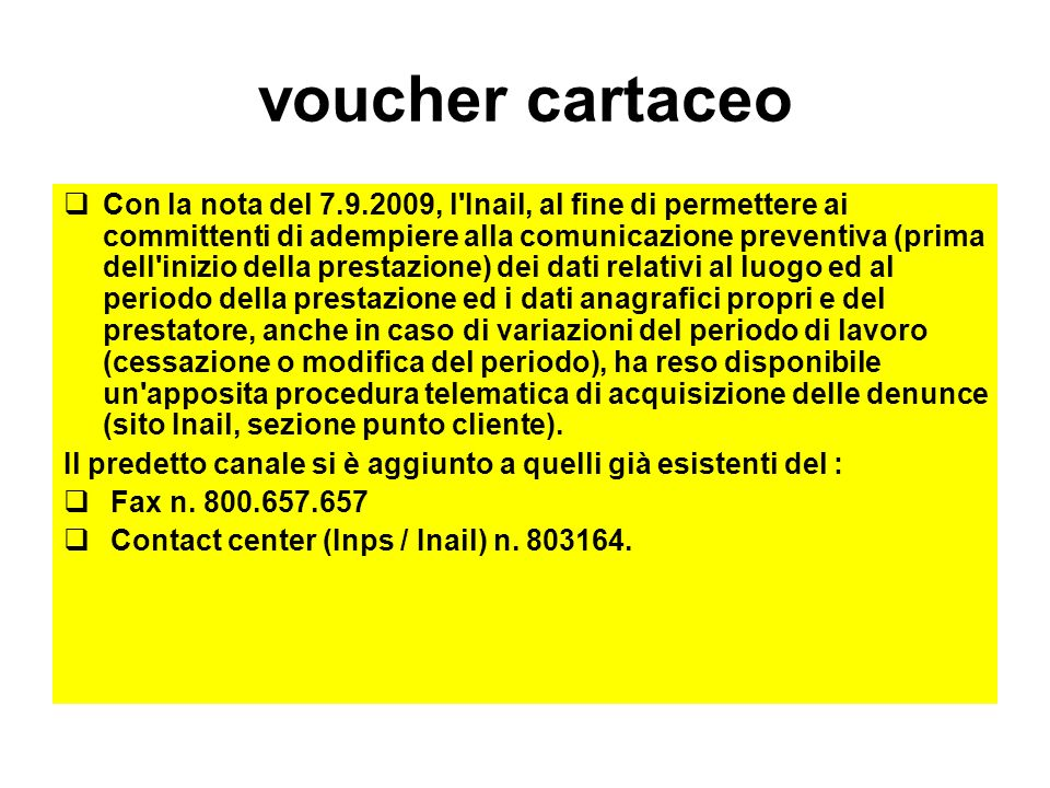 voucher cartaceo