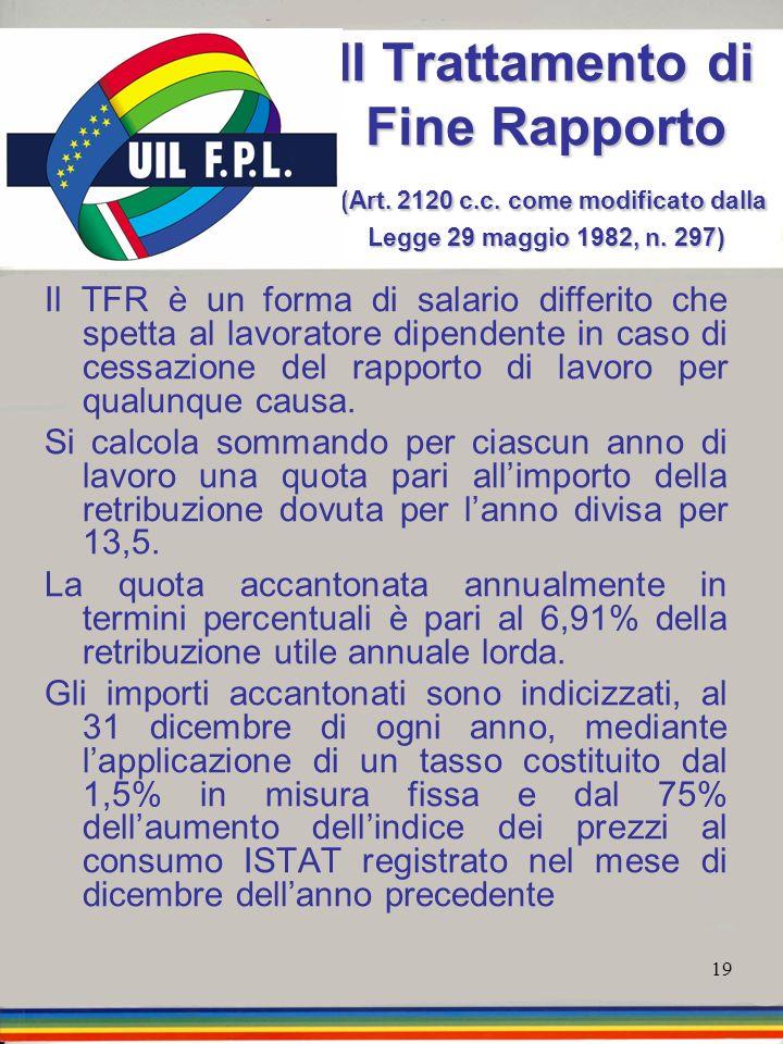 Il Trattamento di Fine Rapporto (Art. 2120 c. c