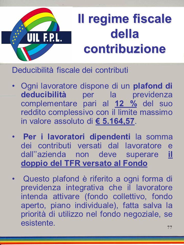Il regime fiscale della contribuzione