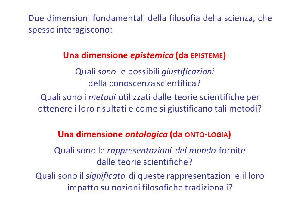 Una dimensione epistemica (da episteme)