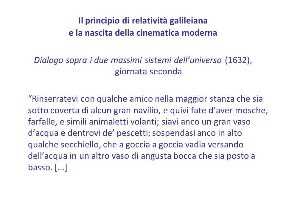 Il principio di relatività galileiana