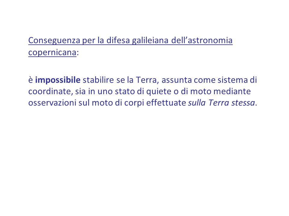 Conseguenza per la difesa galileiana dell'astronomia copernicana: