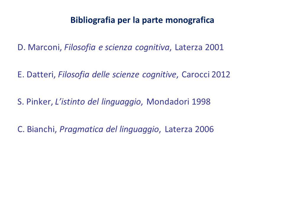 Bibliografia per la parte monografica D