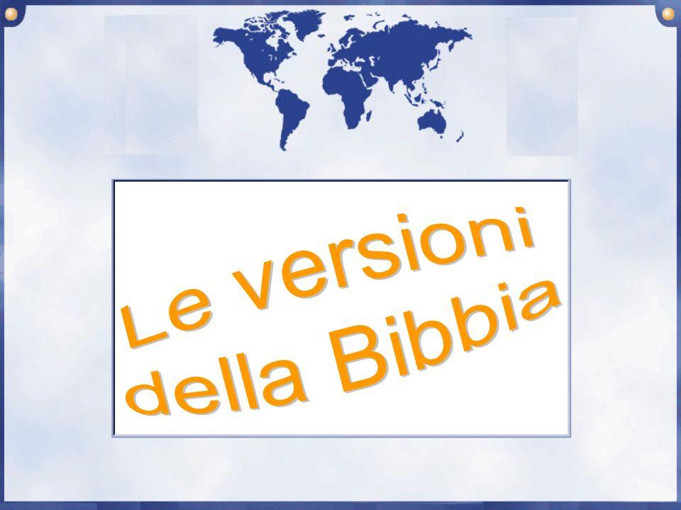 Le versioni della Bibbia