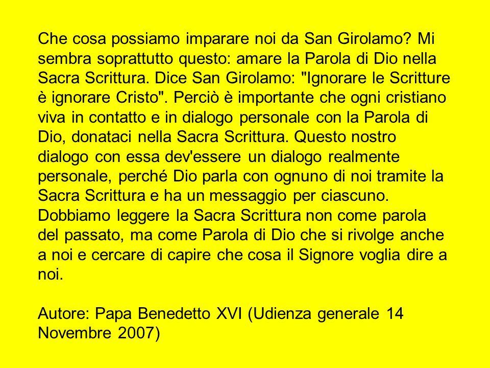 Che cosa possiamo imparare noi da San Girolamo
