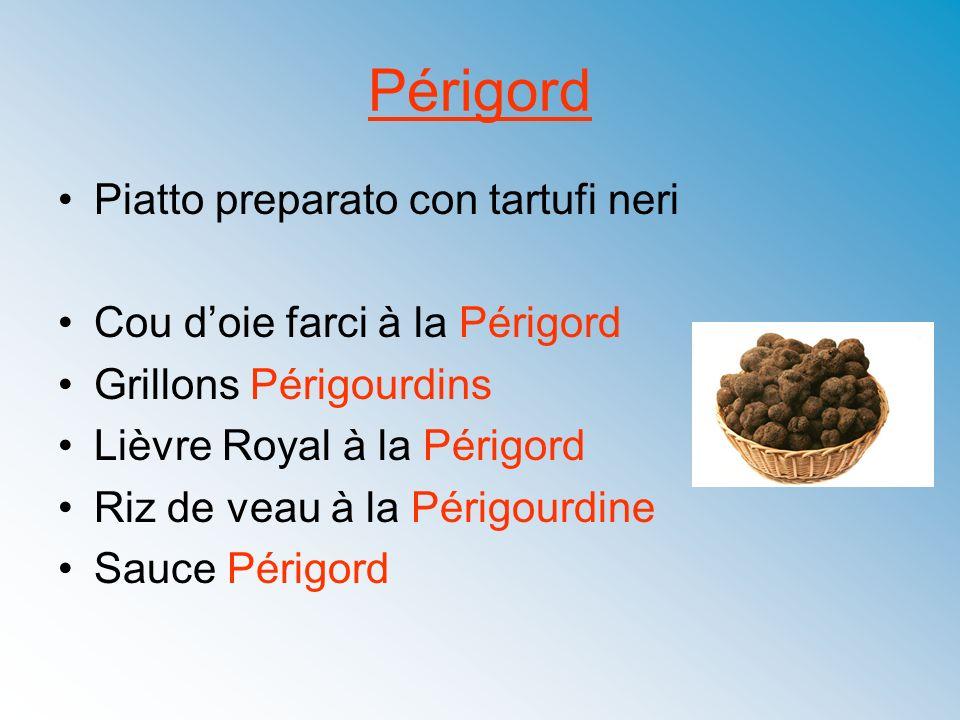 Périgord Piatto preparato con tartufi neri