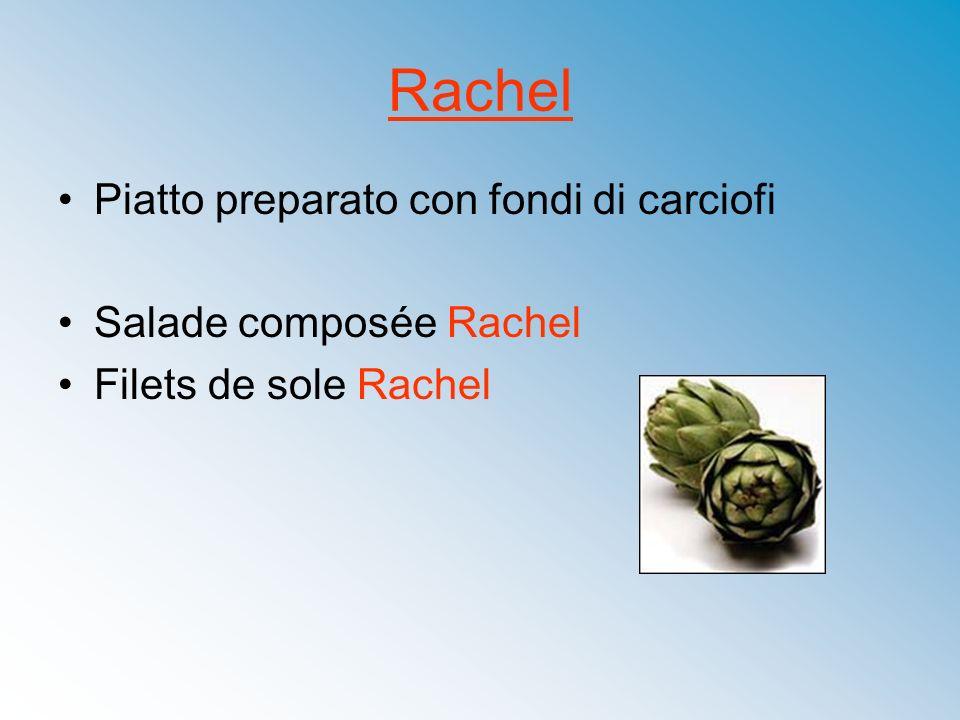 Rachel Piatto preparato con fondi di carciofi Salade composée Rachel