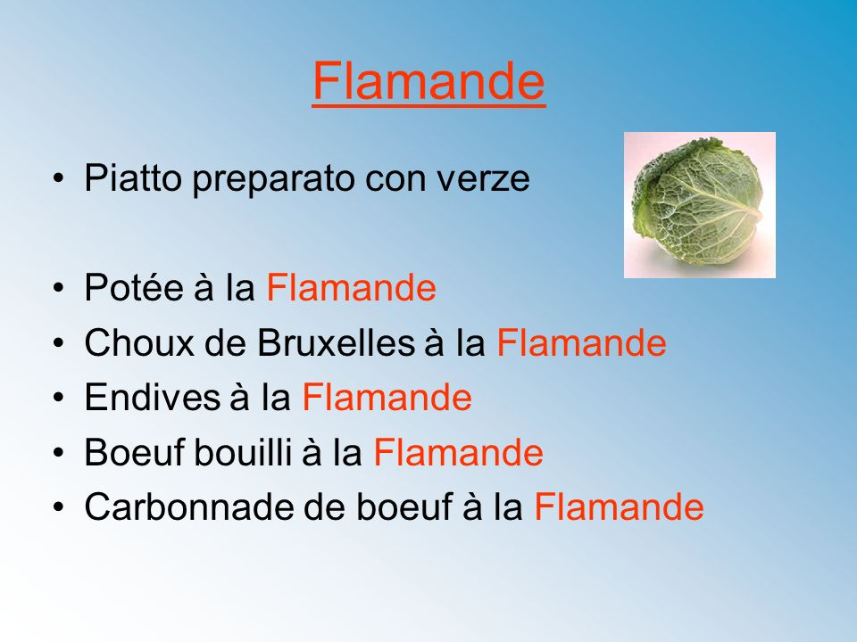 Flamande Piatto preparato con verze Potée à la Flamande