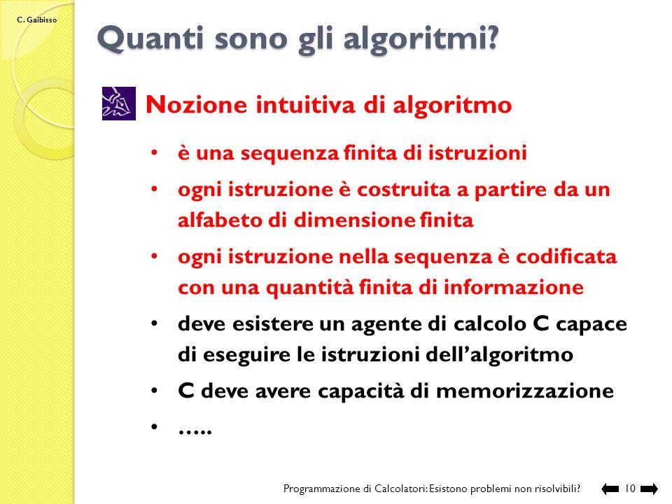 Quanti sono gli algoritmi