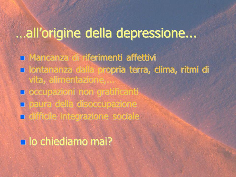 …all'origine della depressione...